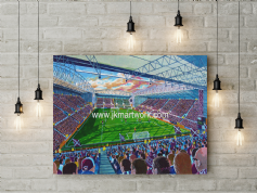 new tynecastle park on matchday canvas a3 size (1)